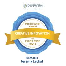 Badge-récompense de BSF aux prix 2017 du Consortium pour une éducation ouverte